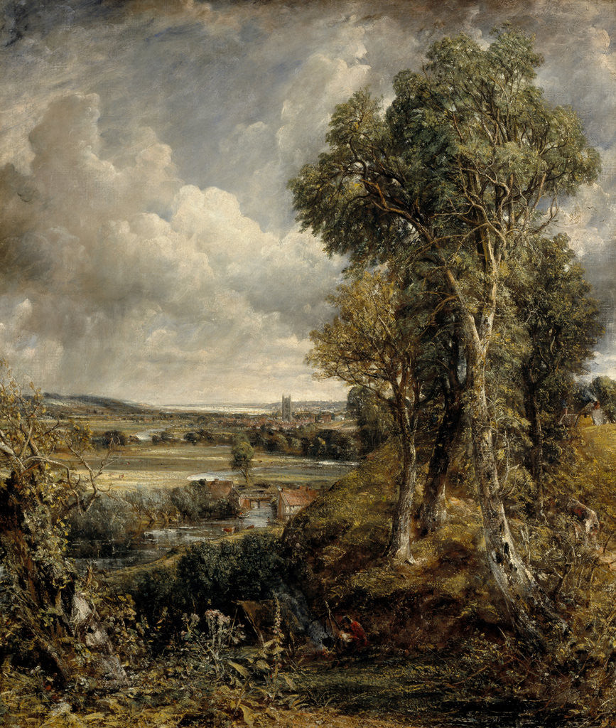 Detail of The Vale of Dedham by John Constable