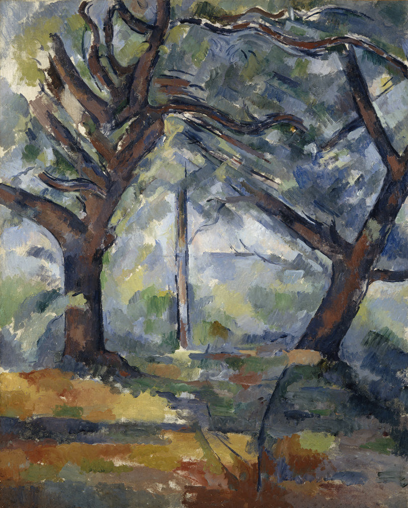 Detail of The Big Trees by Paul Cezanne
