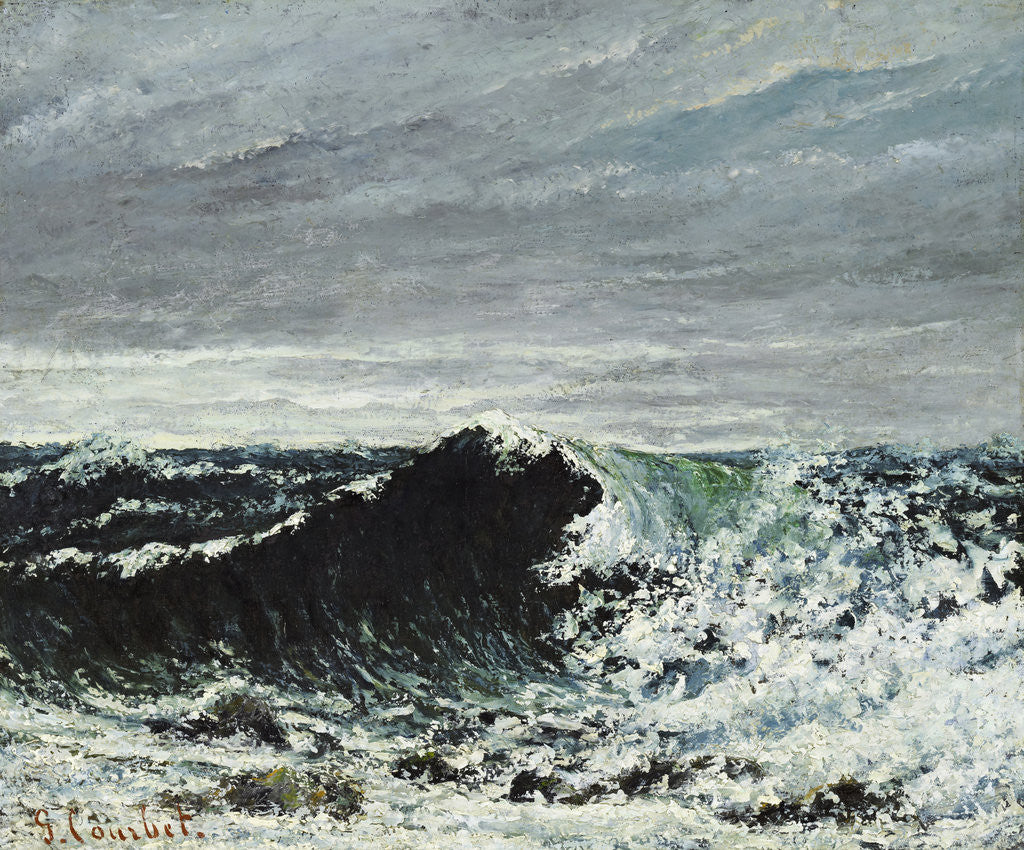 Detail of The Wave by Gustave Courbet