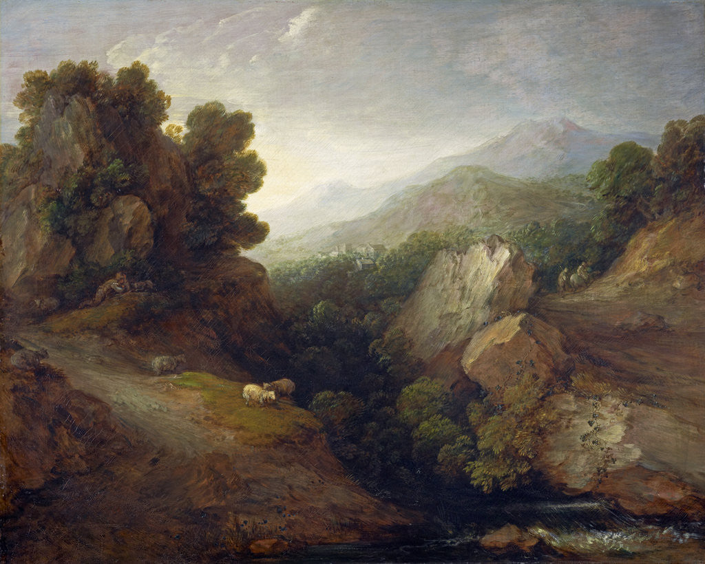 Detail of Rocky Landscape by Thomas Gainsborough