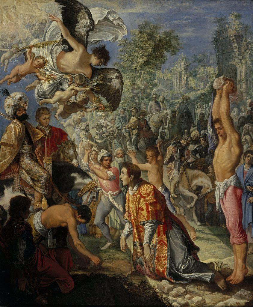 Detail of The Stoning of Saint Stephen by Adam Elsheimer