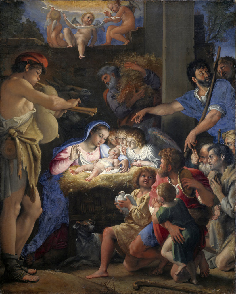 Detail of The Adoration of the Shepherds by Domenichino