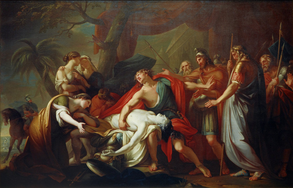 Detail of Achilles Lamenting the Death of Patroclus by Gavin Hamilton