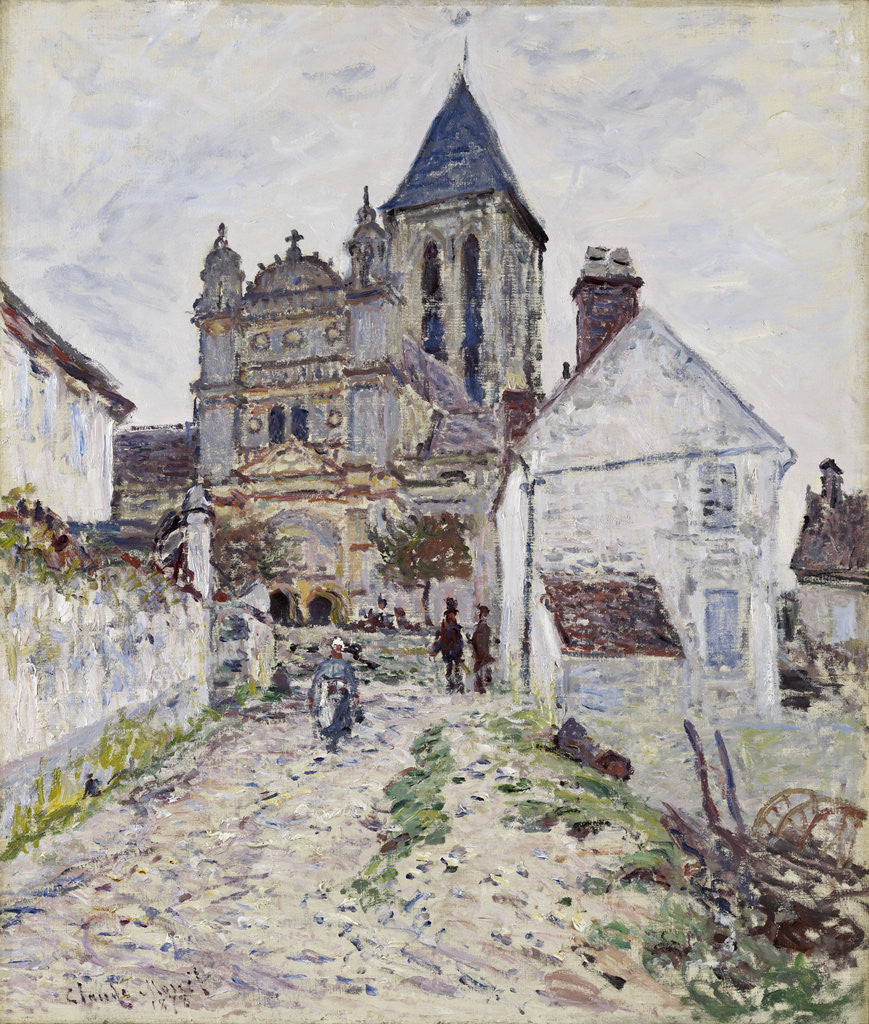 Detail of The Church at Vétheuil by Claude Monet