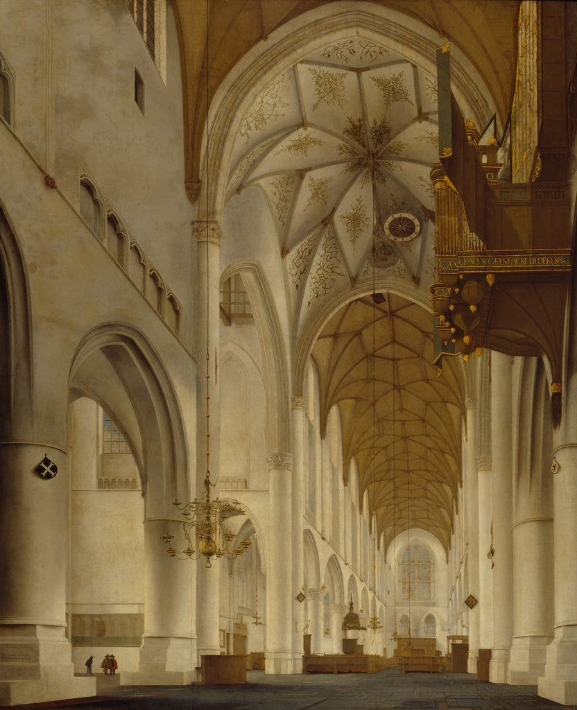 Detail of The Interior of St Bavo's Church, Haarlem (the 'Grote Kerk') by Pieter Jansz. Saenredam