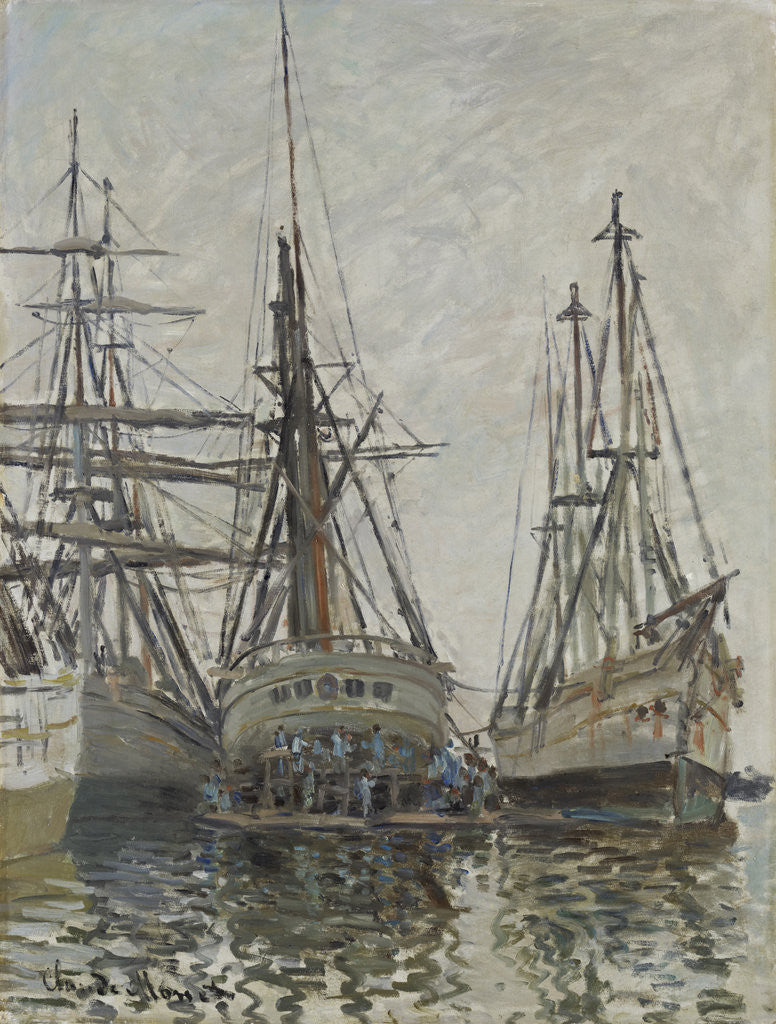 Detail of Boats in a Harbour by Claude Monet