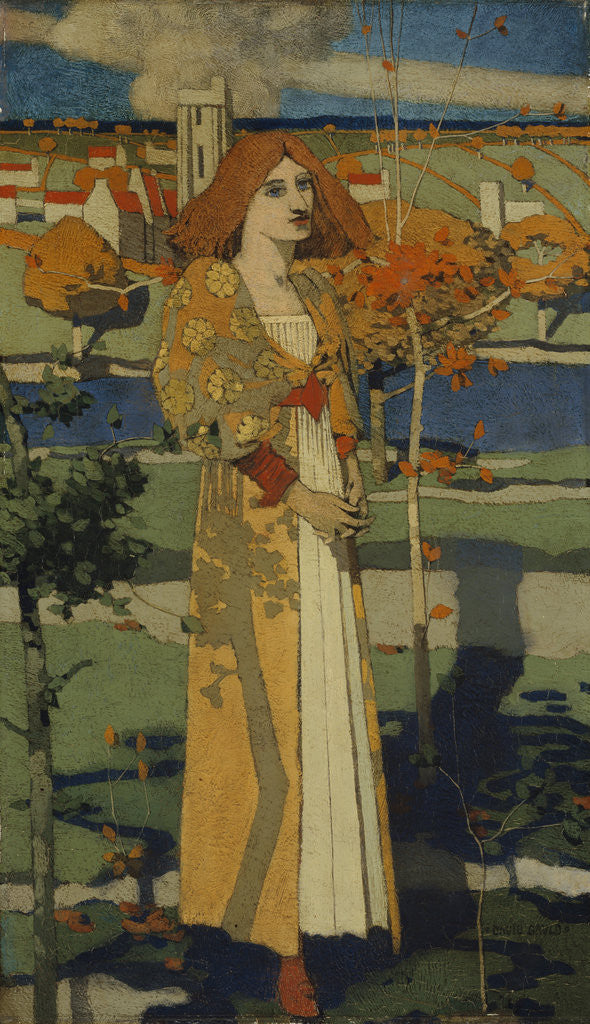 Detail of Saint Agnes by David Gauld