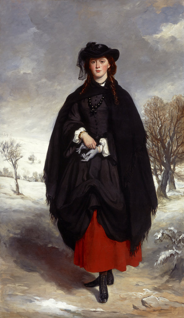Detail of Anne Emily Sophia Grant (known as 'Daisy' Grant), Mrs William Markham (1836 - 1880) by Sir Francis Grant