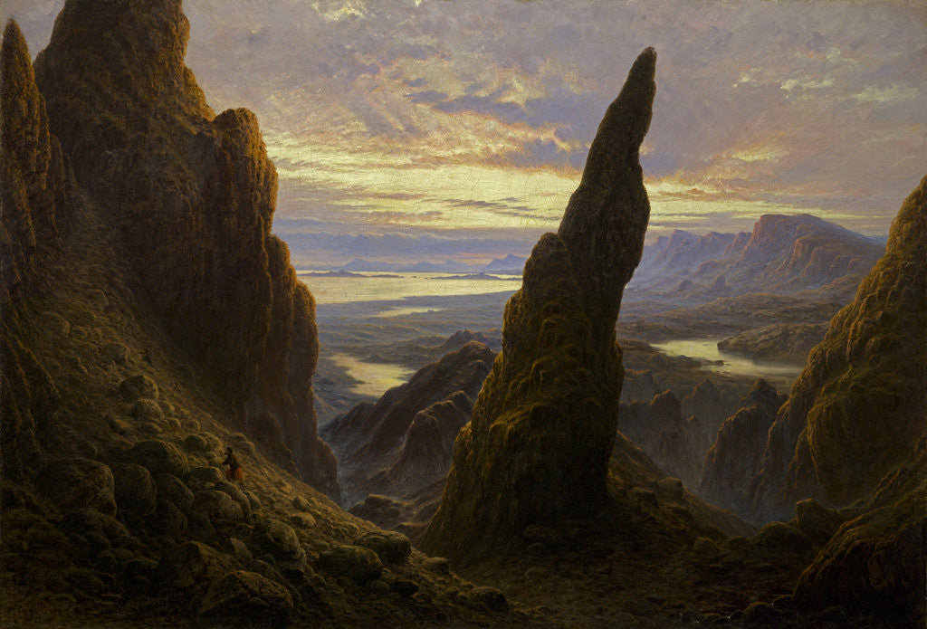 Detail of Entrance to the Cuiraing, Skye by Waller Hugh Paton