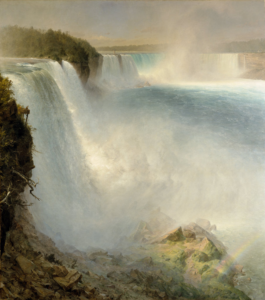 Detail of Niagara Falls, from the American Side by Frederic Edwin Church