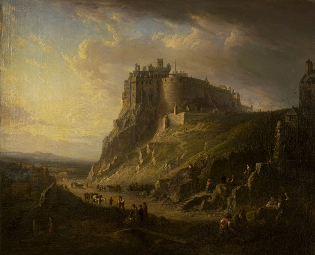 Detail of View of Edinburgh Castle by Alexander Nasmyth