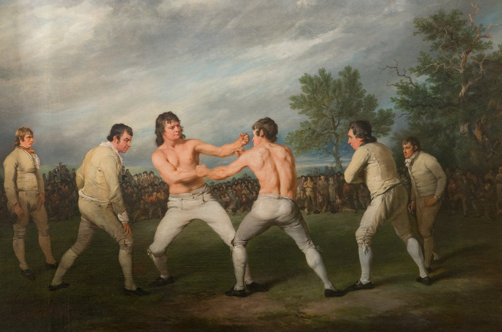 Detail of William Warr Defeating William Wood at Navestock in Essex, December 31st 1788 by Richard Ramsay Reinagle