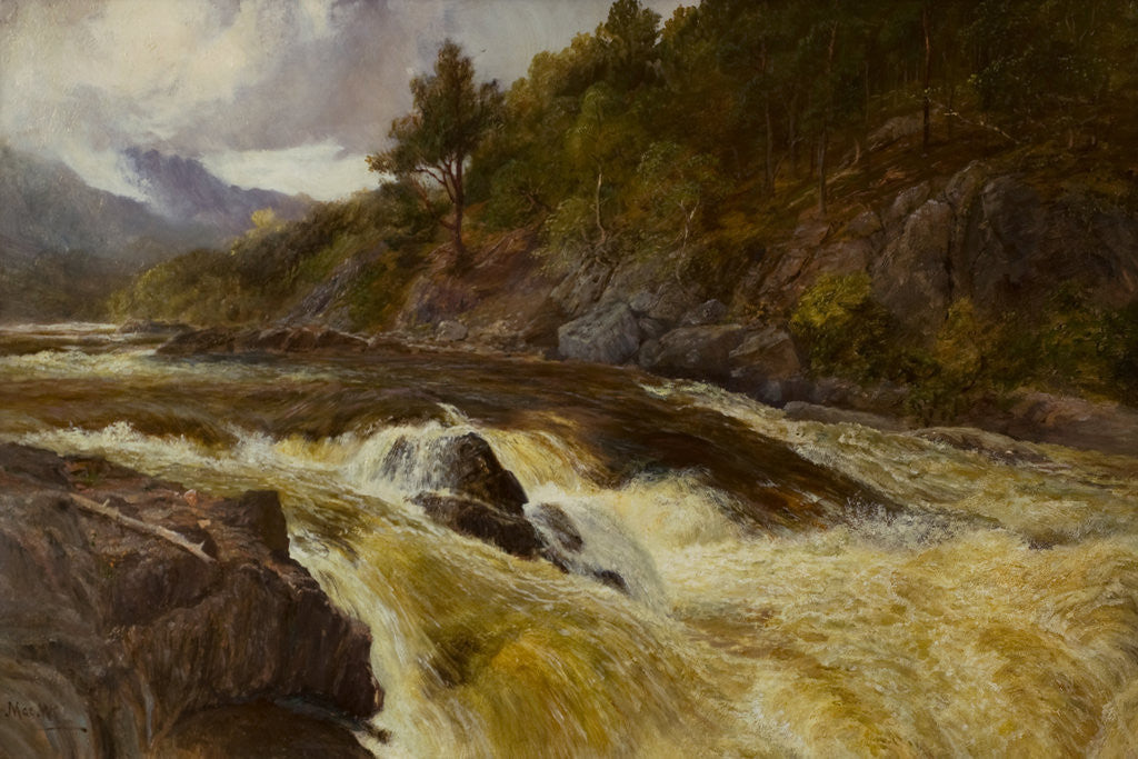 Detail of River and rocks by John MacWhirter