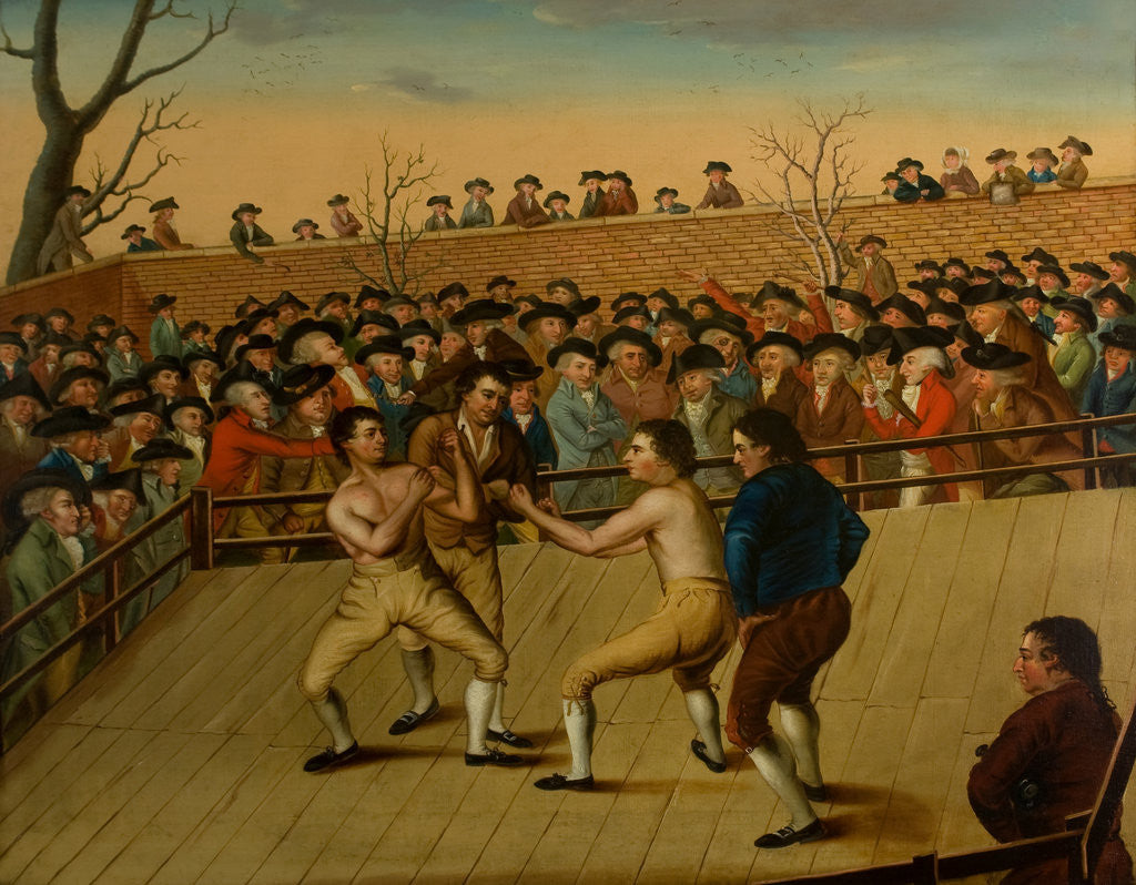 Detail of The Fight between Jackson and Mendoza at Hornchurch, 1795 by English School