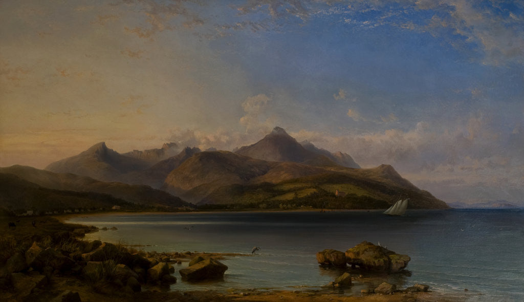 Detail of View of Brodick Bay, 1857 by George Edwards Hering
