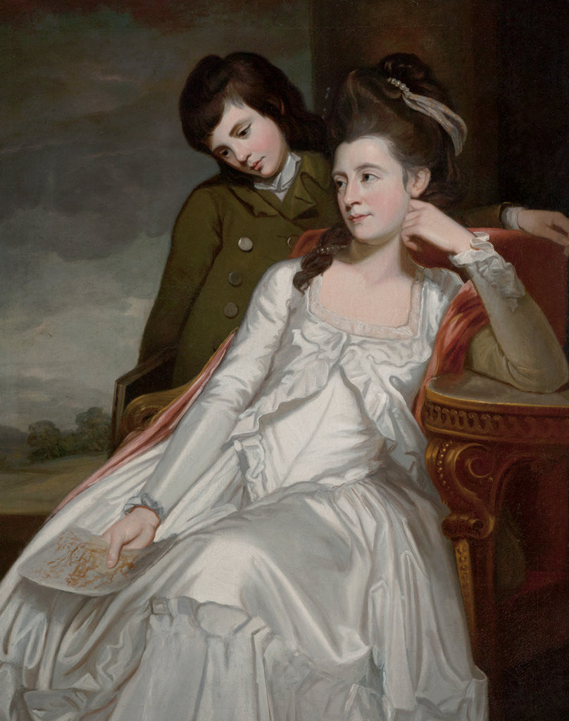 Detail of Jane, Duchess of Gordon and her Son, George by George Romney