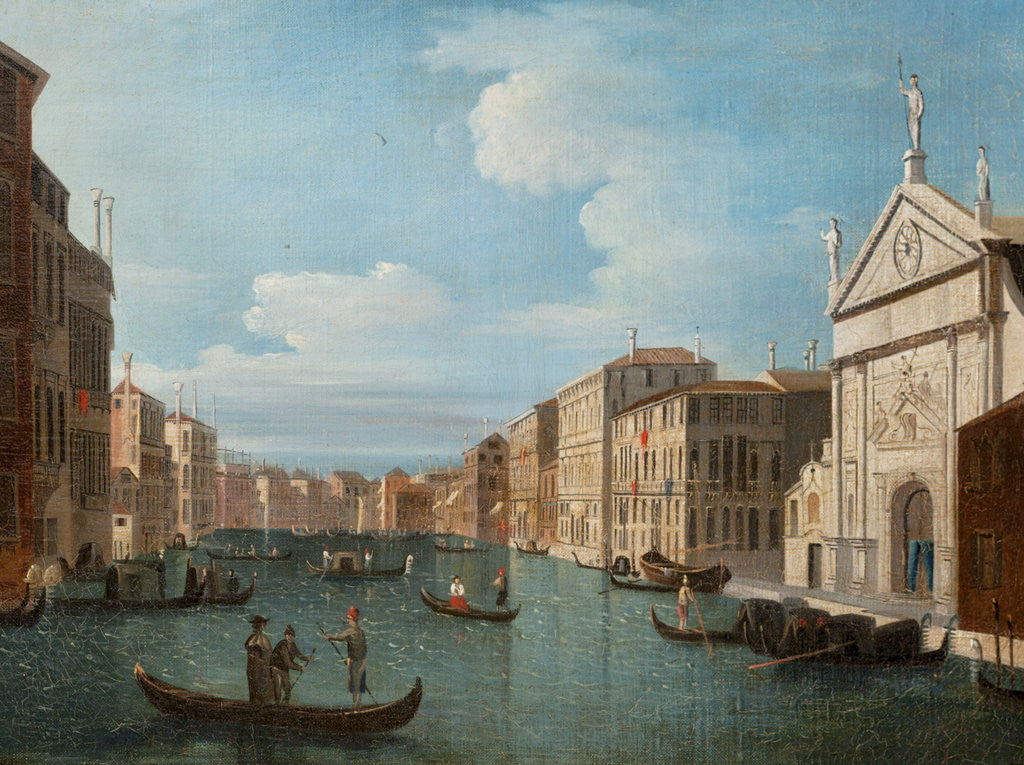 Detail of Grand Canal, Venice by Italian School