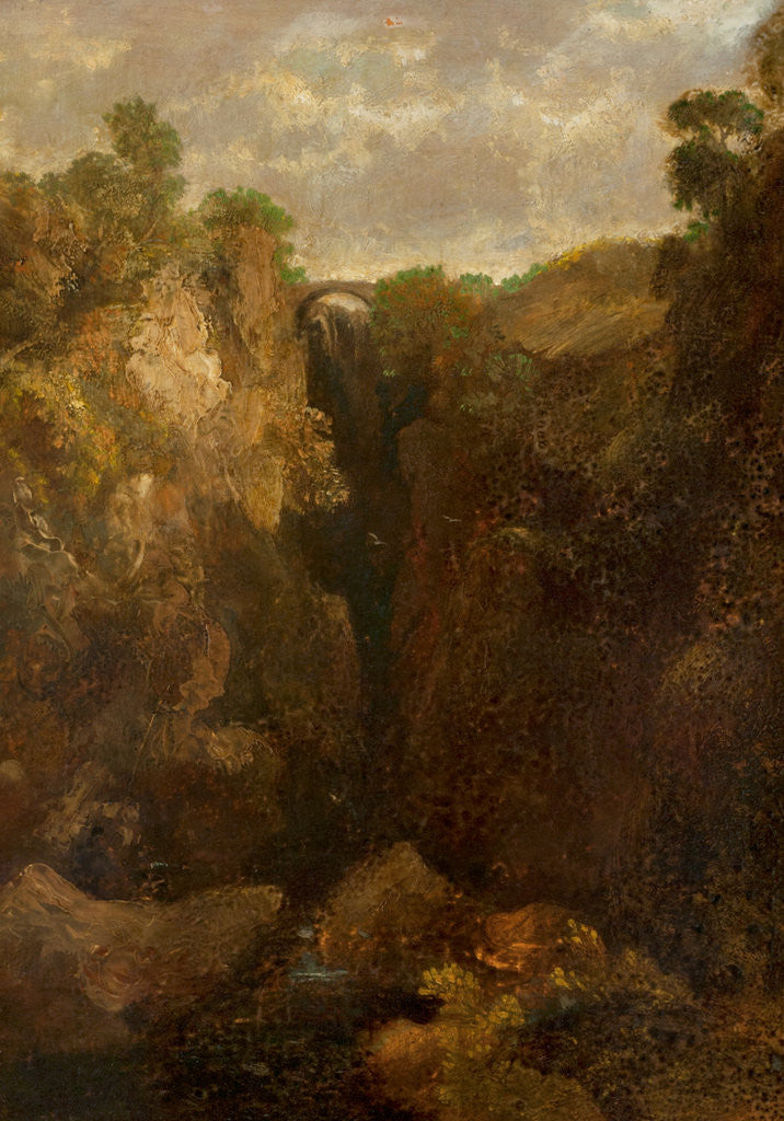 Detail of Dollar Glen by The Reverend John of Duddingston Thomson