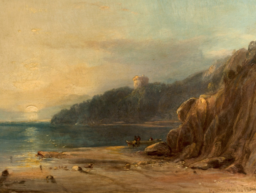 Detail of Coast Scene with Castle, 1850 by Horatio McCulloch
