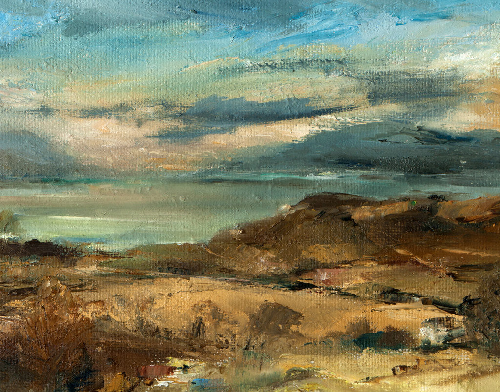 Detail of A Highland estuary, 1977 by Mary Munro