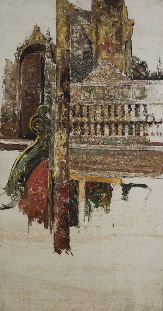 Detail of A Balustrade, Mandalay by Edward Atkinson Hornel