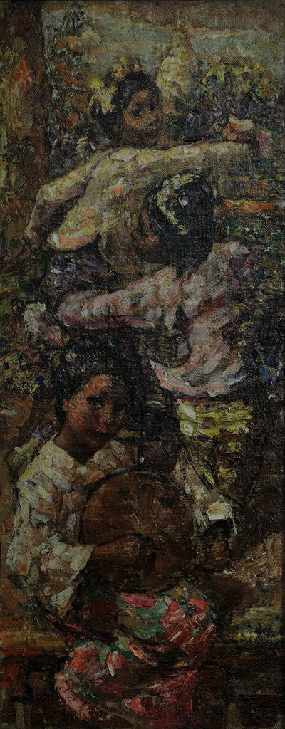 Detail of Burmese Maidens, c.1922-7 by Edward Atkinson Hornel