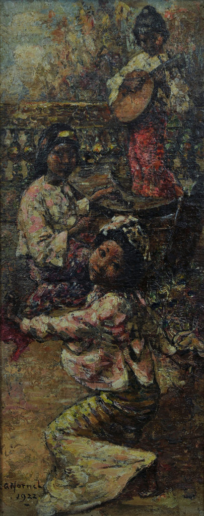 Detail of Burmese Maidens on a Terrace, c.1922-7 by Edward Atkinson Hornel