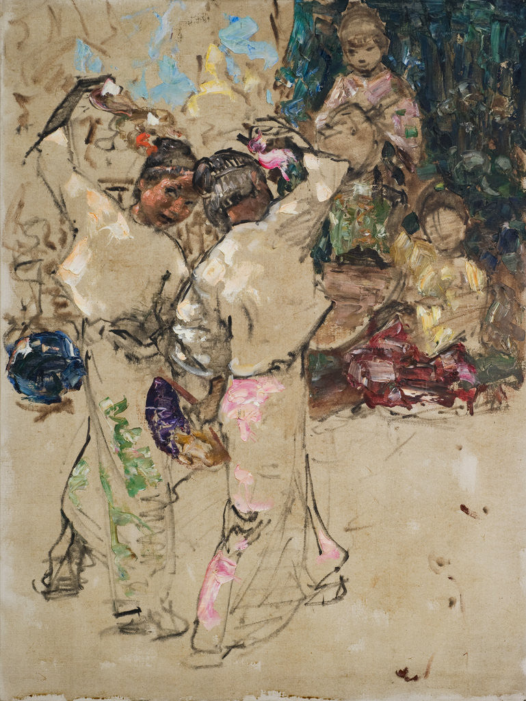 Detail of Figure studies by Edward Atkinson Hornel