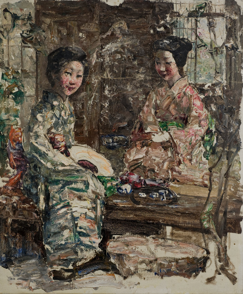 Detail of Tea Ceremony with Japanese Girls, c.1921-25 by Edward Atkinson Hornel
