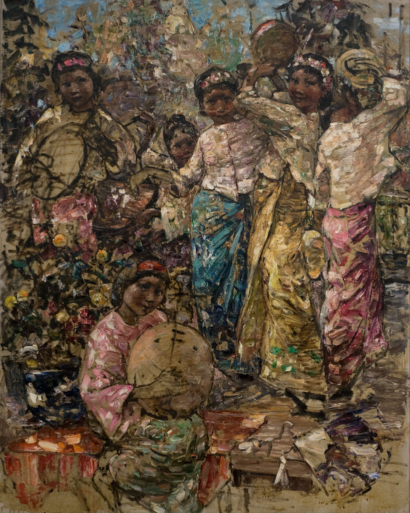 Detail of Burmese Musicians and Dancers, c.1922-27 by Edward Atkinson Hornel