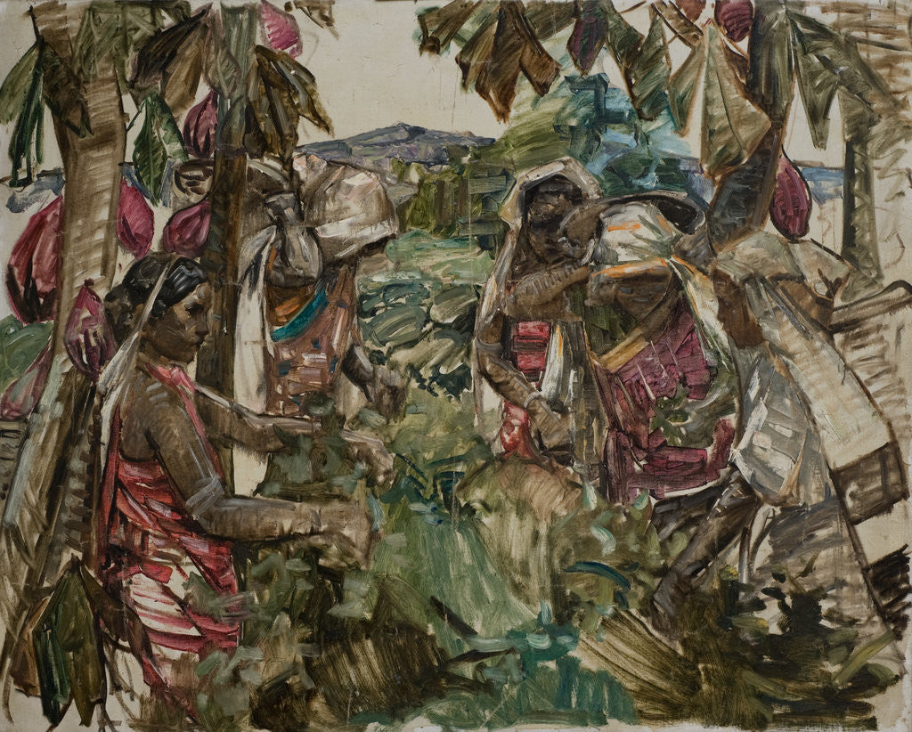 Detail of Ceylonese Tea Pickers, by Edward Atkinson Hornel