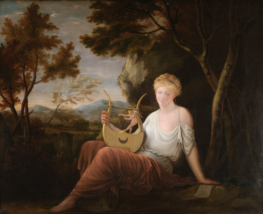 Detail of Woman with a Lyre by Gavin Hamilton