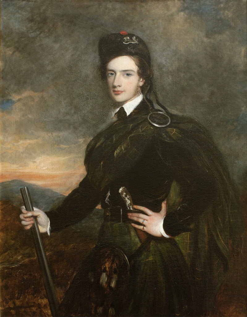 Detail of Francis Garden, Lord Gardenstone, 5th of Troup, in his Kilt and Plaid (1721-1793) by Tilly Kettle Kettle