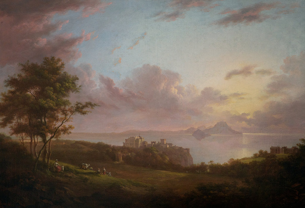 Detail of An extensive view of Culzean, Castle by Alexander Nasmyth