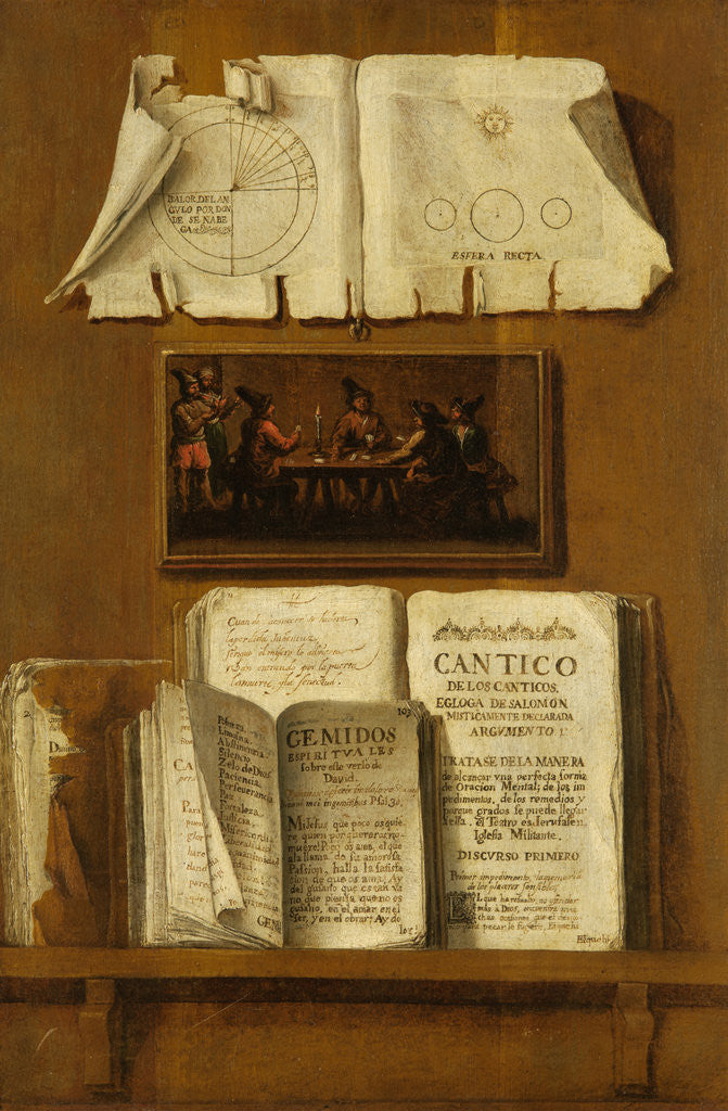 Detail of Trompe l'oeil by Juan Francisco Morales