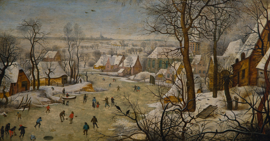 Detail of The Bird Trap (Winter Landscape) by Pieter Brueghel the Younger