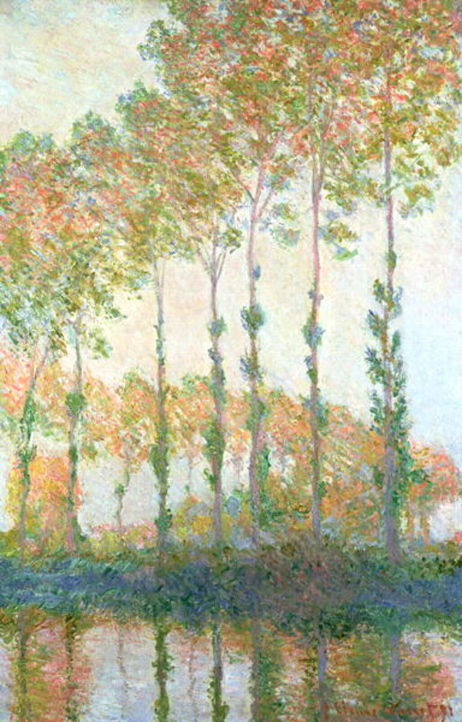 Detail of Poplars on the Banks of the Epte, Autumn, 1891 by Claude Monet