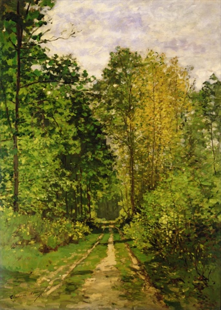 Detail of Wooded Path, 1865 by Claude Monet