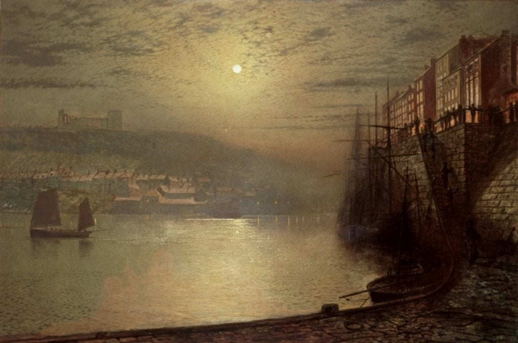 Detail of Whitby by John Atkinson Grimshaw
