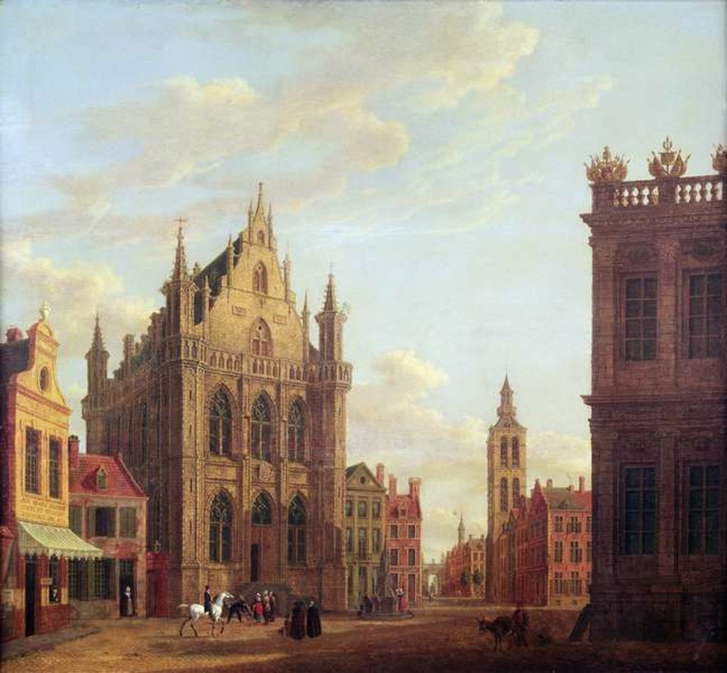 Detail of Bruges, 1824 by Augustus Wynantsz