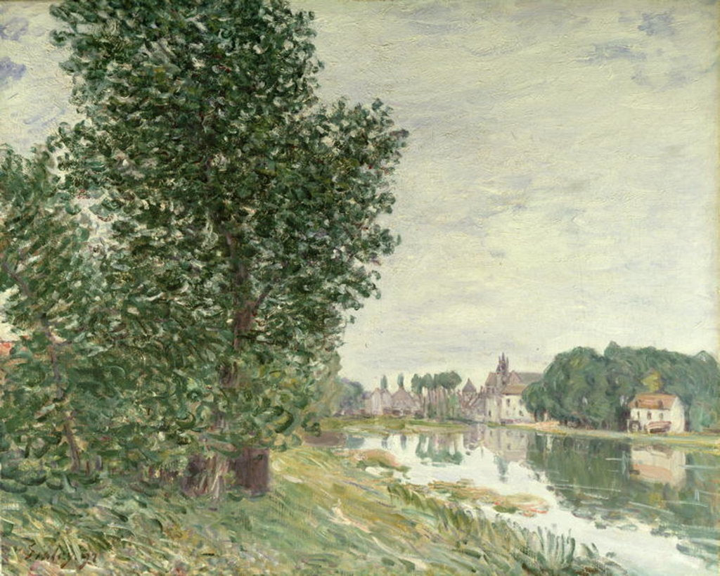 Detail of Moret-sur-Loing, 1892 by Alfred Sisley
