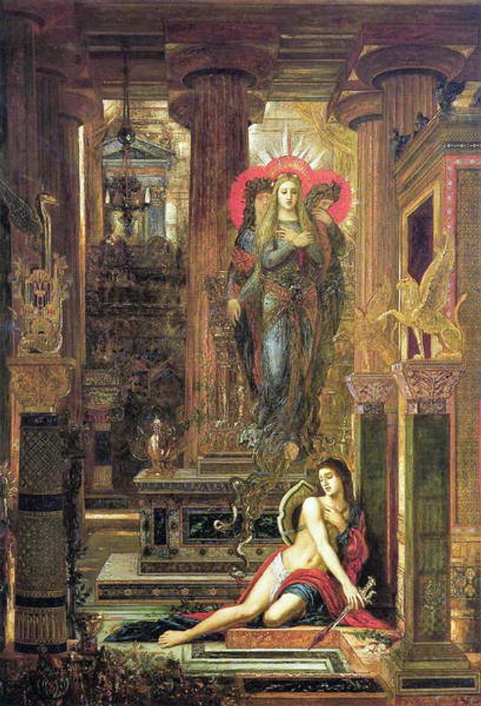 Detail of Orestes and the Erinyes, 1891 by Gustave Moreau