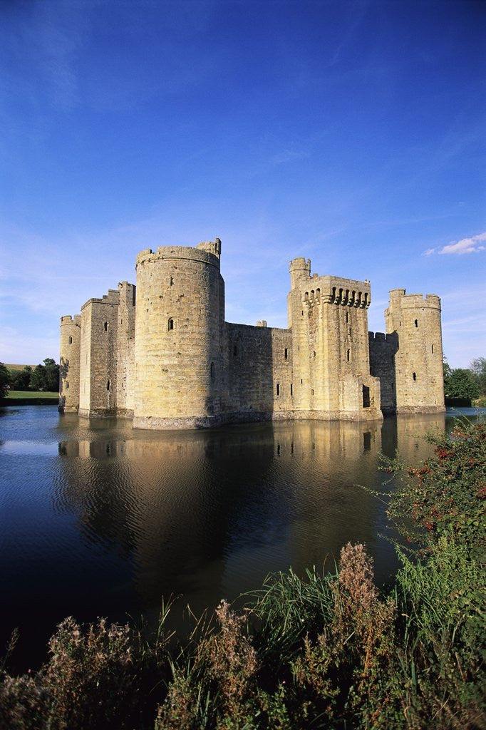 Detail of Bodiam Castle and Moat by Corbis
