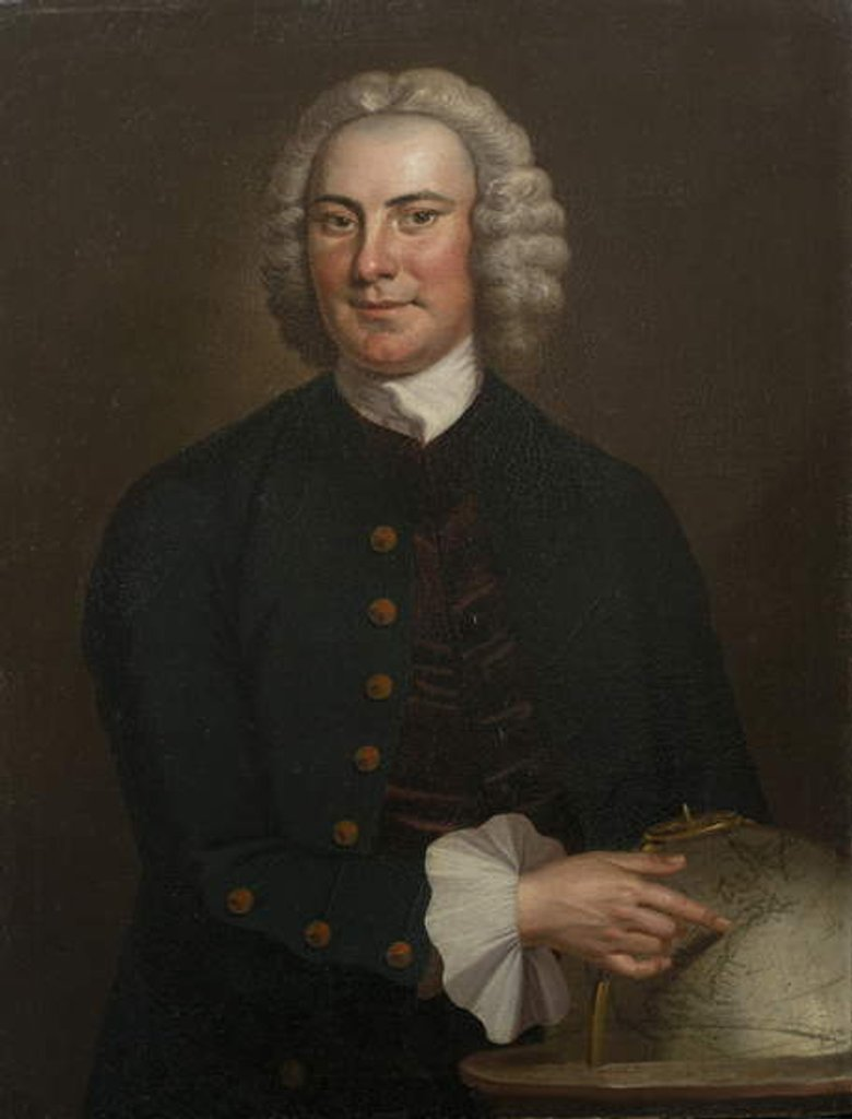 Detail of Captain John Waddell, 1750 by John Wollaston