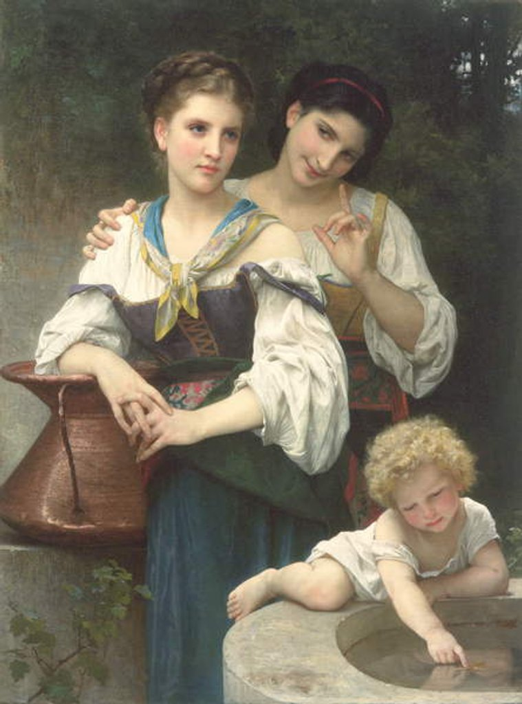 Detail of The Secret, 1876 by William-Adolphe Bouguereau