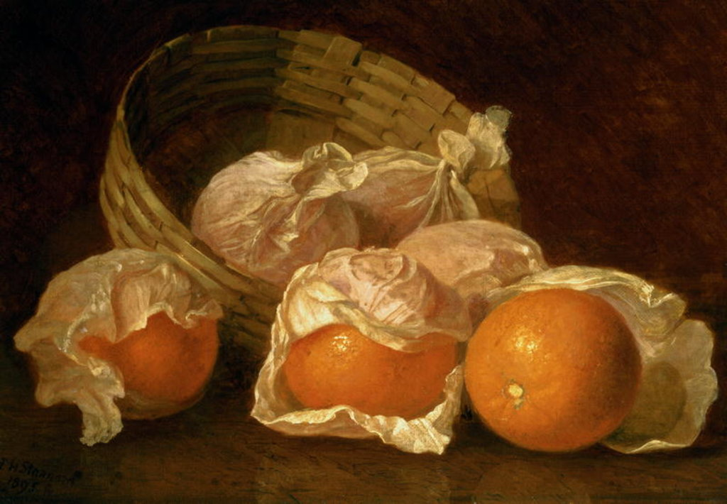 Detail of A Basket of Oranges, 1895 by Eloise Harriet Stannard