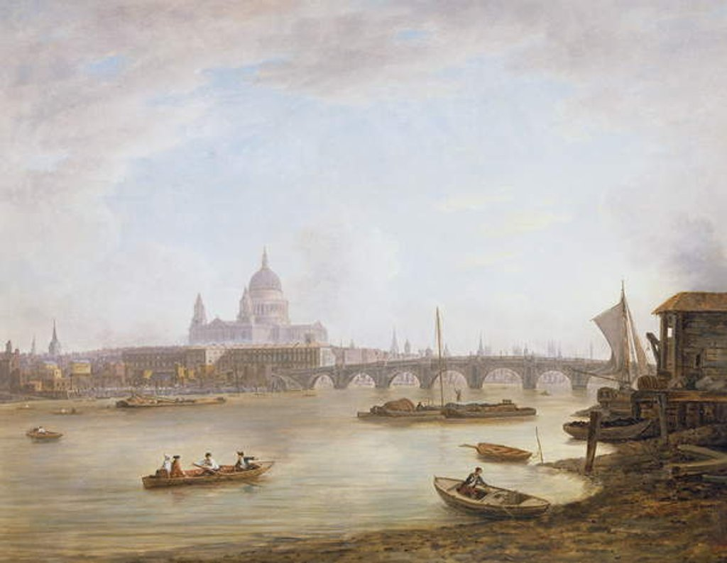 Detail of St Paul's and Blackfriars Bridge by William Marlow