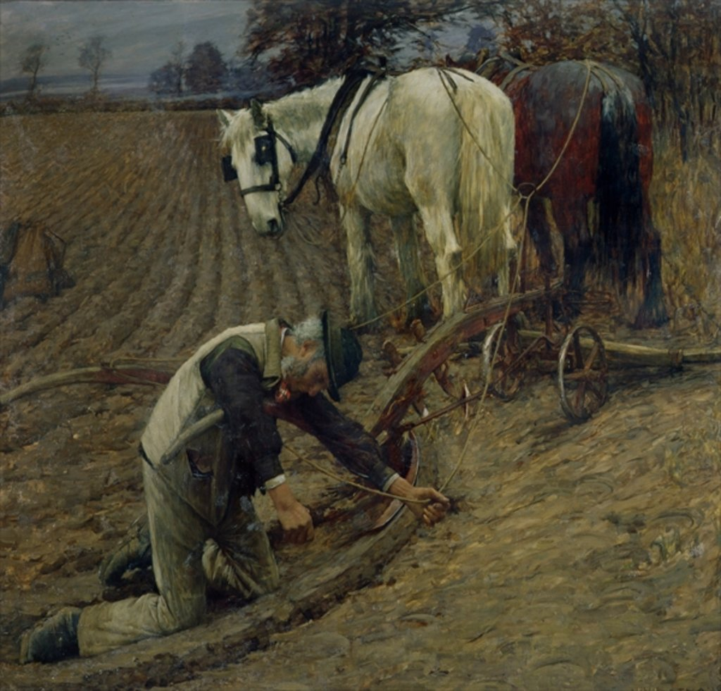 Detail of The Last Furrow, 1895 by Henry Herbert La Thangue