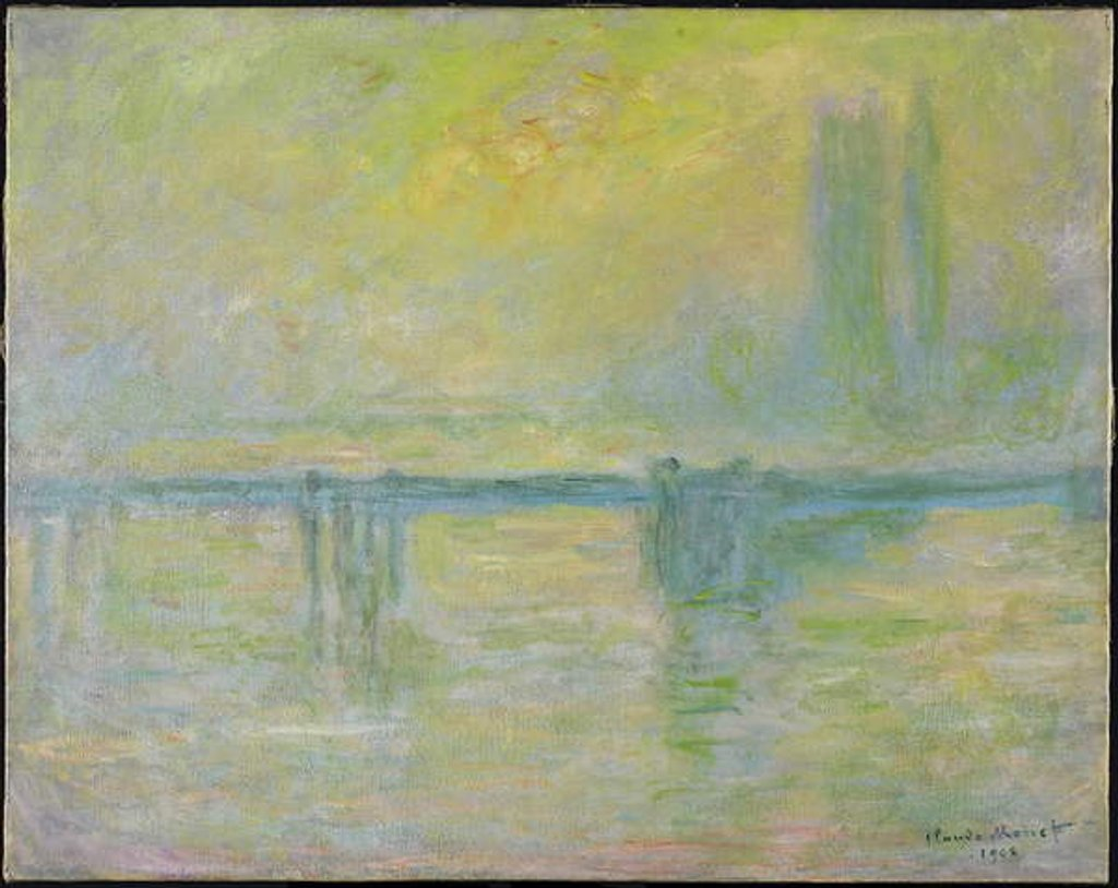 Detail of Charing Cross Bridge: Fog, 1902 by Claude Monet