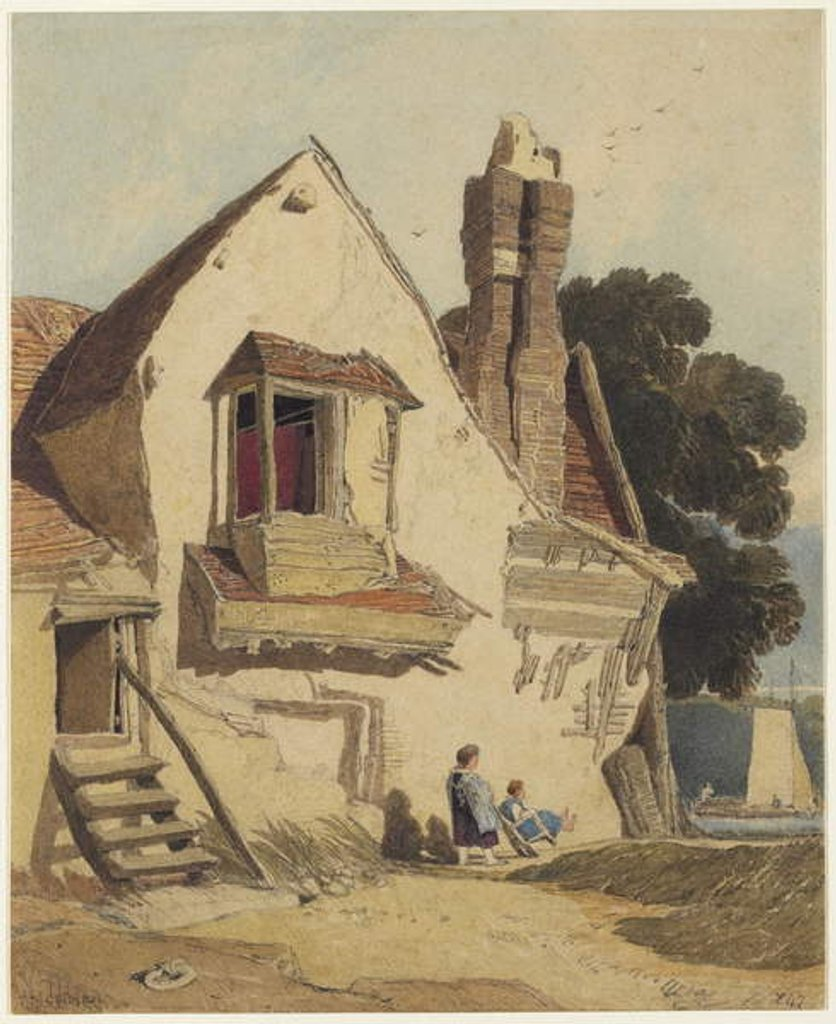 Detail of Rustic Cottage, c.1810 by John Sell Cotman
